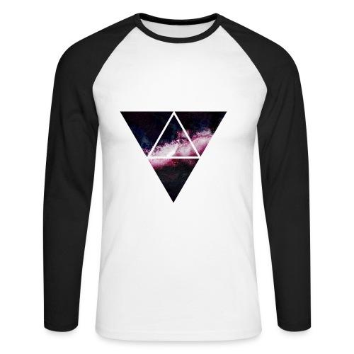 Space triangle t-shirt - Långärmad basebolltröja herr