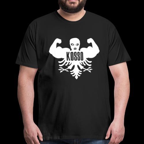 Kosso Mannenshirt (Witte Logo) - Mannen Premium T-shirt