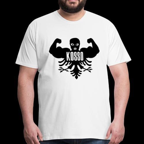 Kosso Mannenshirt (Zwarte Logo) - Mannen Premium T-shirt