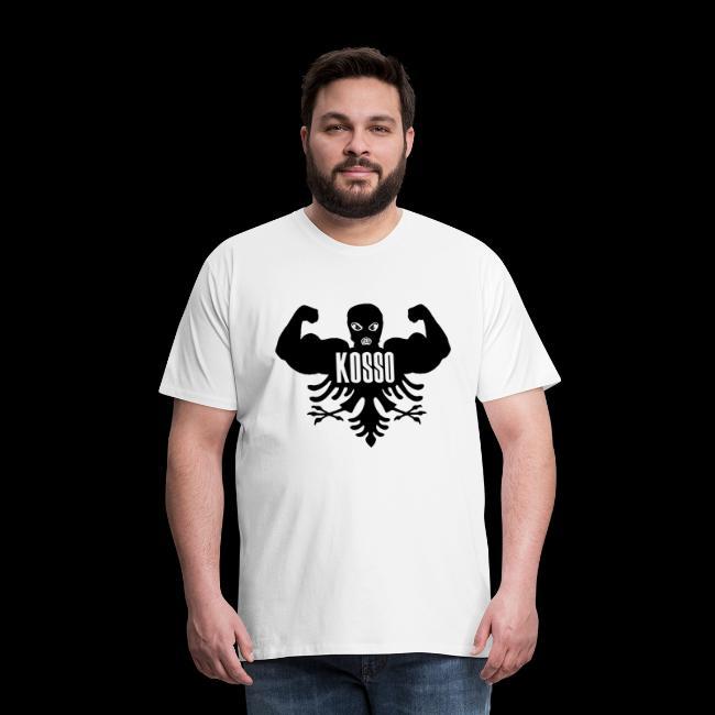 Kosso Mannenshirt (Zwarte Logo)