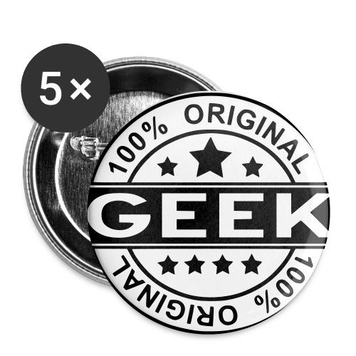 100% Geek - Buttons small 1''/25 mm (5-pack)
