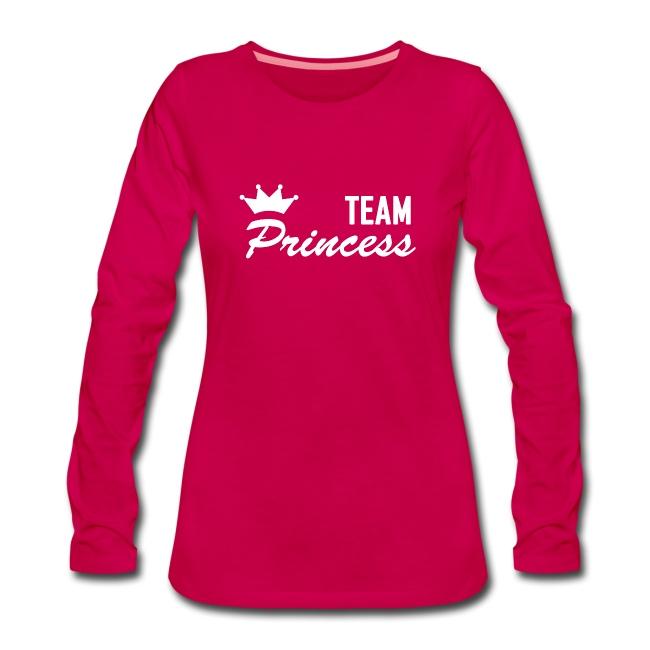 Women's Team Princess White Premium Longsleeve