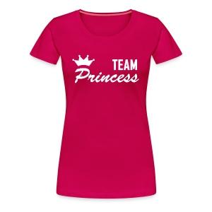 Women's Team Princess White Premium T shirt - Women's Premium T-Shirt