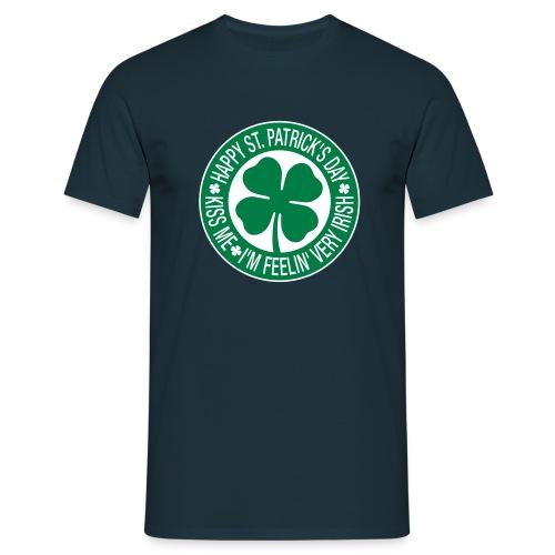 Kiss Me Im Feelin Very Irish - Men's T-Shirt