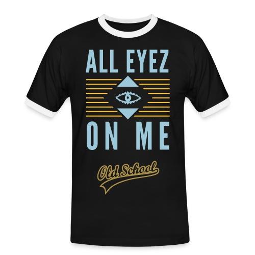 Tee-Shirt 'All Eyez On Me 2Pac - T-shirt contrasté Homme