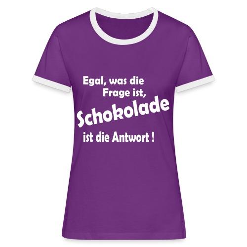 Egal, was die Frage ist, ..... - Frauen Kontrast-T-Shirt