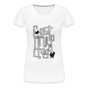 Ladies Maze T (Black Print) - Women's Premium T-Shirt