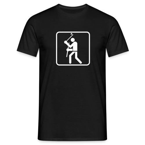 Axt und Schild Piktogramm T-Shirt - Männer T-Shirt