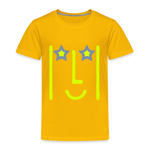 T-Shirt KDZ NeonYellow+SilverMetallic • STAR - T-shirt Premium Enfant