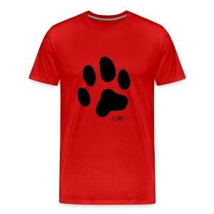 Men's Paw T (Black Print) - Men's Premium T-Shirt