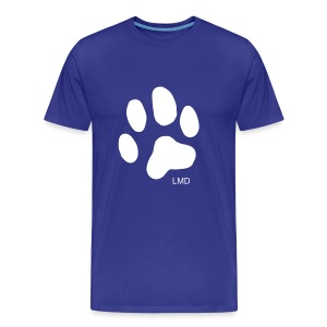 Men's Paw T (White Print) - Men's Premium T-Shirt