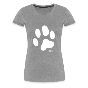 Ladies Paw T (White Print) - Women's Premium T-Shirt