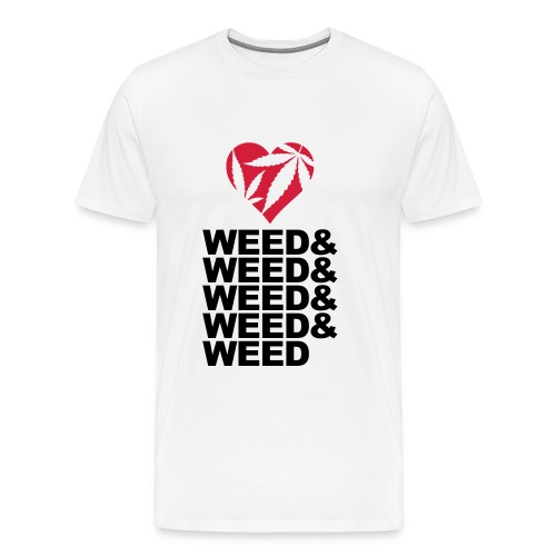 LOVE WEED - T-shirt Premium Homme