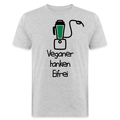 Veganer tanken Eifrei - Männer Bio-T-Shirt