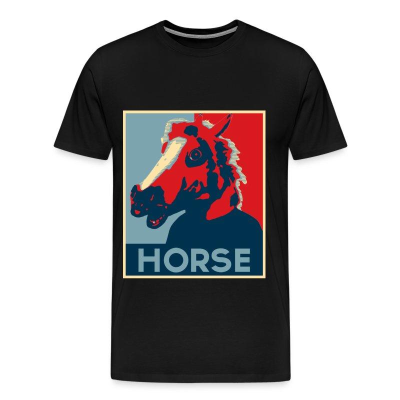 Barrack Obama Horse V2.jpg - T-shirt Premium Homme
