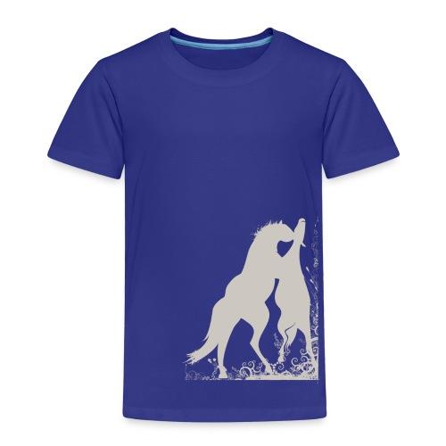 Kinder T-Shirt mit zwei spielende Pferde - Kinder Premium T-Shirt