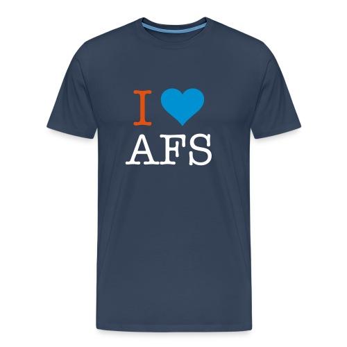 Marineblå herre I Love AFS - Herre premium T-shirt