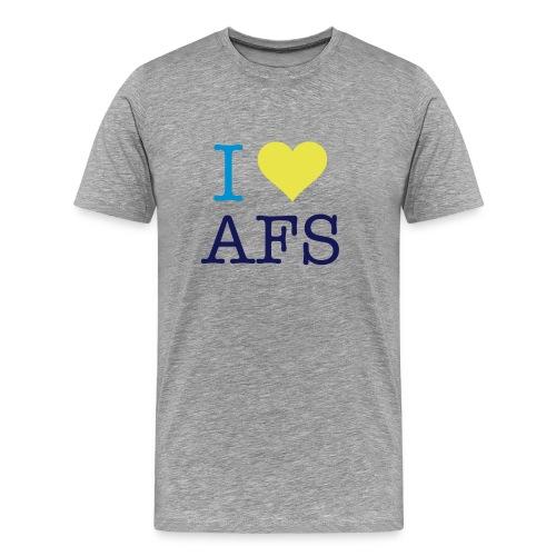 Grå herre I Love AFS - Herre premium T-shirt