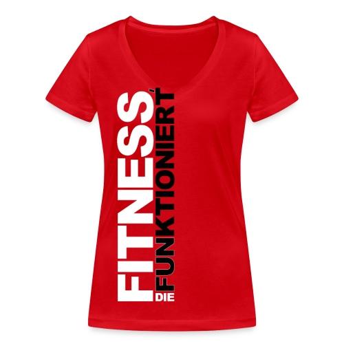 FDF Ladies V-Ausschnitt Rot - Frauen Bio-T-Shirt mit V-Ausschnitt von Stanley & Stella