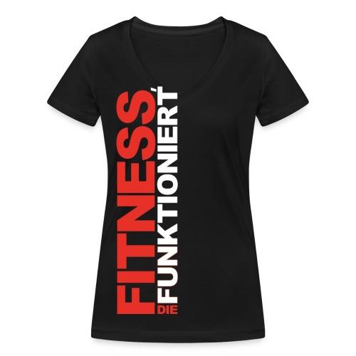 FDF Ladies V-Auschnitt Schwarz - Frauen Bio-T-Shirt mit V-Ausschnitt von Stanley & Stella