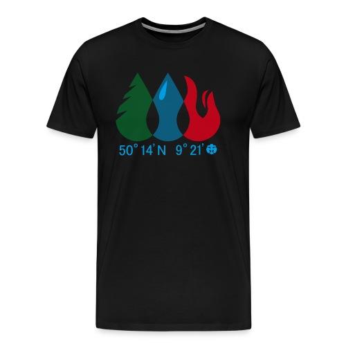 Männer T-Shirt Wald/ Wasser/ Feuer - Männer Premium T-Shirt