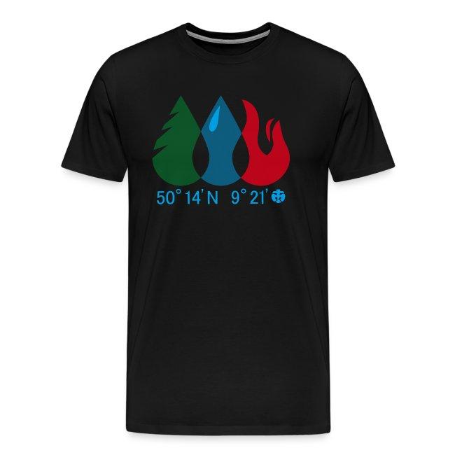 Männer T-Shirt Wald/ Wasser/ Feuer