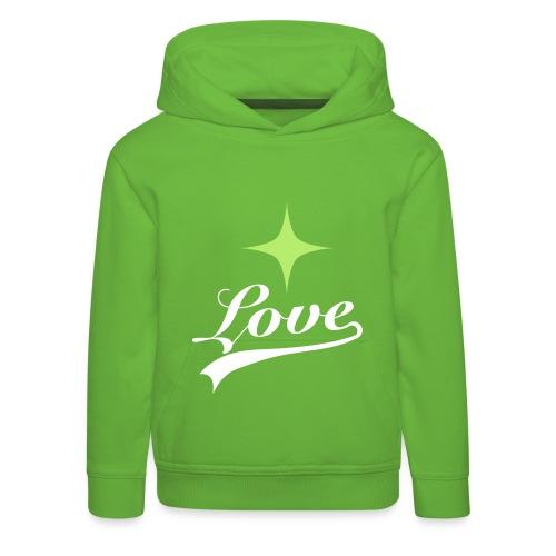 Kinder Kapuzzenpulli Love Star - Kinder Premium Hoodie