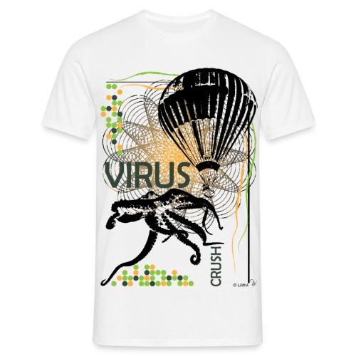Virus White - Maglietta da uomo