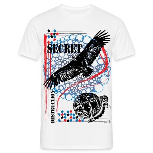 Secret White - Maglietta da uomo