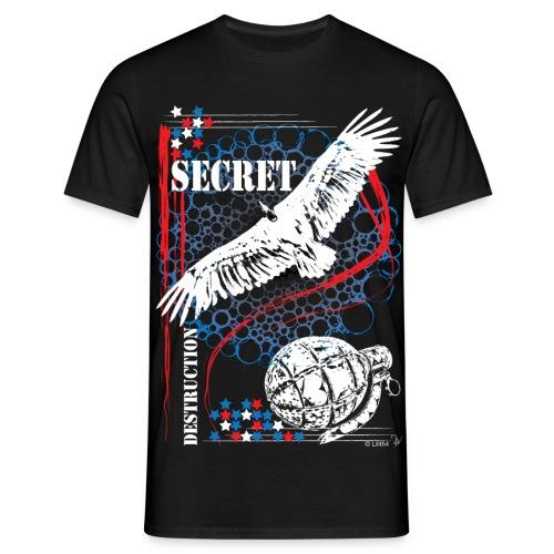 Secret Black - Maglietta da uomo