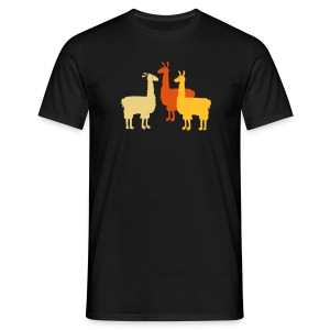 3 Lamas - Männer T-Shirt