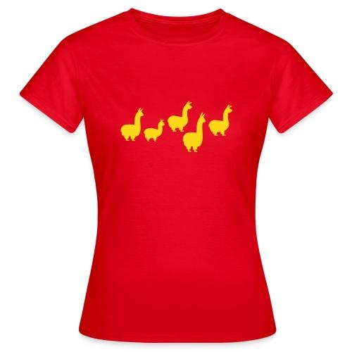 5 Lamas - Frauen T-Shirt