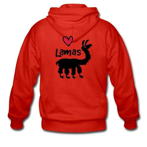 Lama :) - Männer Premium Kapuzenjacke