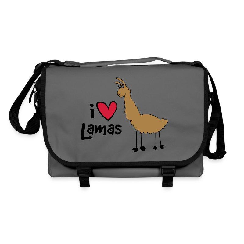 Tasch I Love Lamas - Umhängetasche