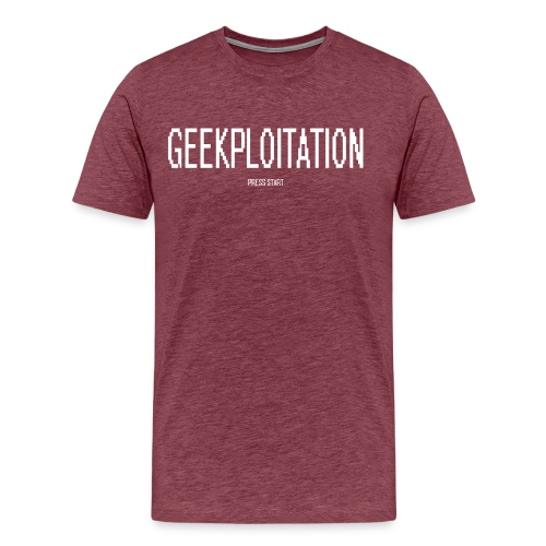 Geeksploitation - Press Start T - Men's Premium T-Shirt