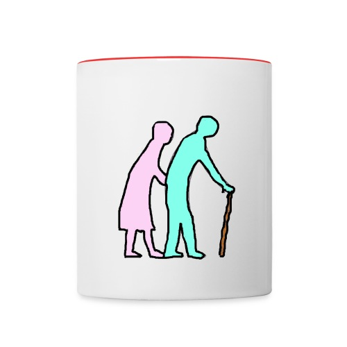 TASSE PLUS LOIN A DEUX - Mug contrasté