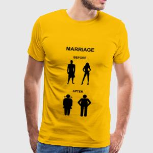 Marriage before / after T-Shirts - Herre premium T-shirt