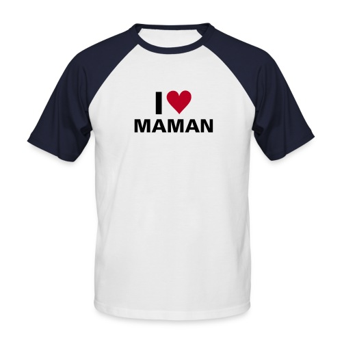 j'aime maman - T-shirt baseball manches courtes Homme
