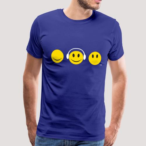 See Hear Speak Smiley T - Men's Premium T-Shirt