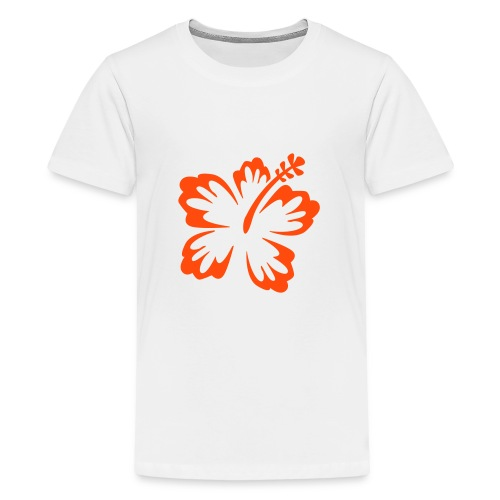 Keep cool, fleur orange - T-shirt Premium Ado