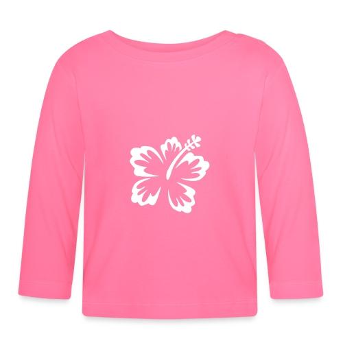 Sweat bébé rose avec une fleur - T-shirt manches longues Bébé