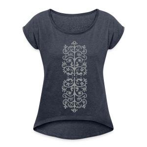 Tier Ornament - Frauen T-Shirt mit gerollten Ärmeln