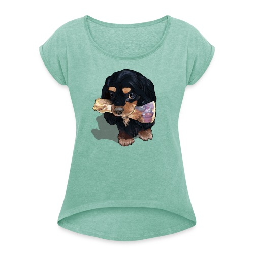 Frauen T-Shirt mit gerollten Ärmeln - Den geb ich nicht her!