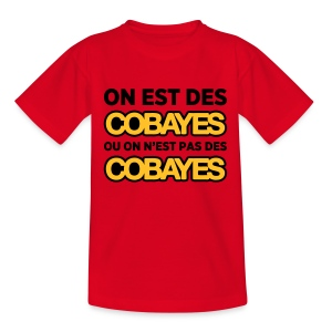 T-Shirt Couleur Enfant On est Cobayes - T-shirt Enfant