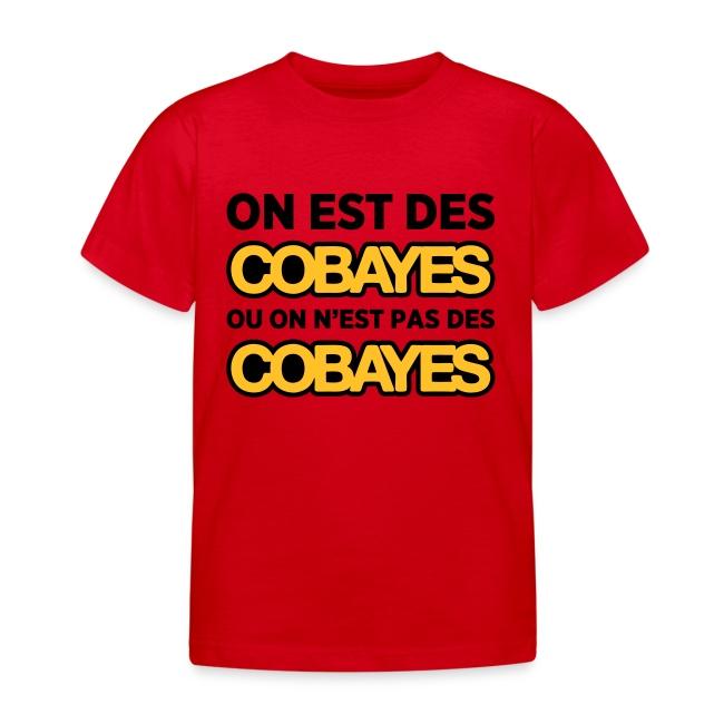 T-Shirt Couleur Enfant On est Cobayes