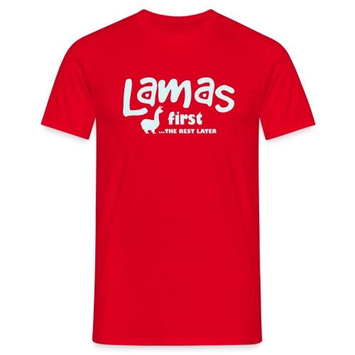 Männer T-Shirt - Spezial-Flexdruck, 21,6 cm x 10,9 cm