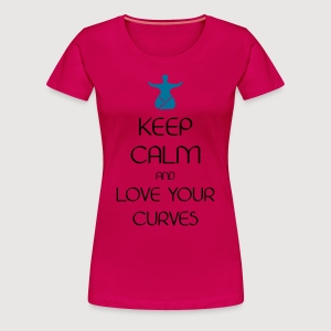 KEEP CALM love curves - Frauen Premium T-Shirt