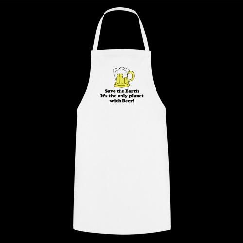 Sauvez la terre et la bière - Tablier de cuisine