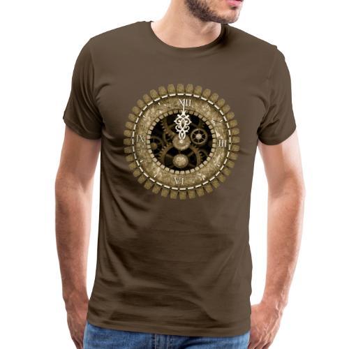 Vintage Steampunk Clock #2 Men's Premium T-Shirt - Men's Premium T-Shirt