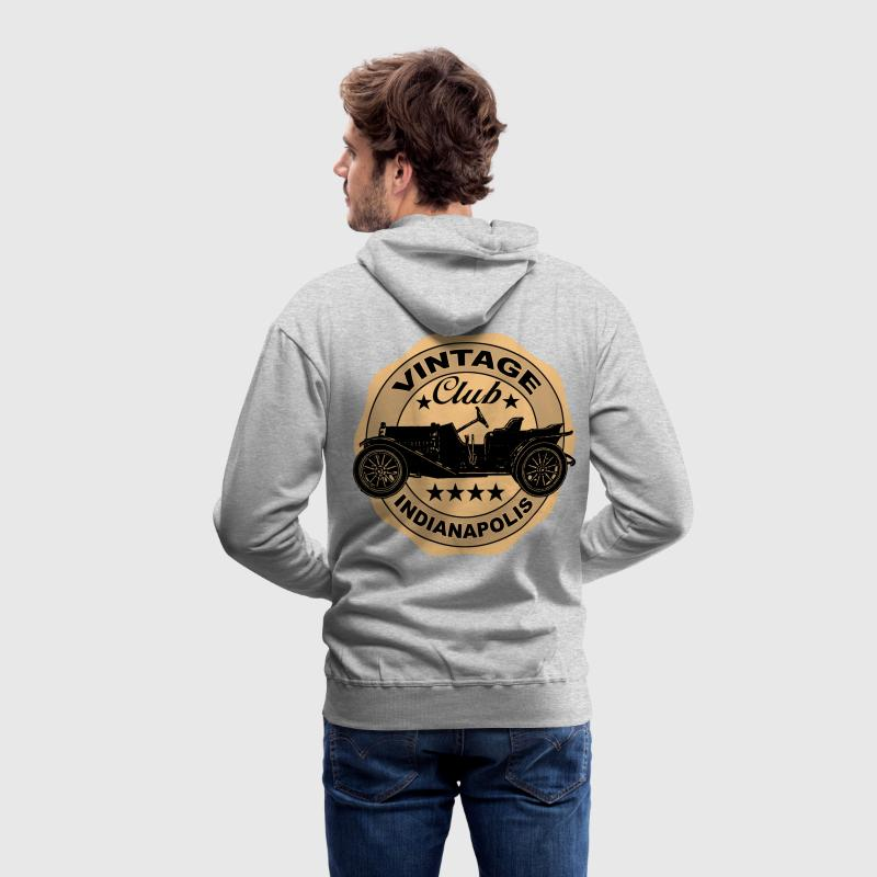 vintage car 03 Sweat-shirts - Sweat-shirt à capuche Premium pour hommes